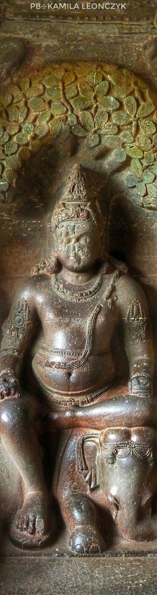 Carvings of the Ajanta and Ellora caves in Maharashtra, India #india #carvings