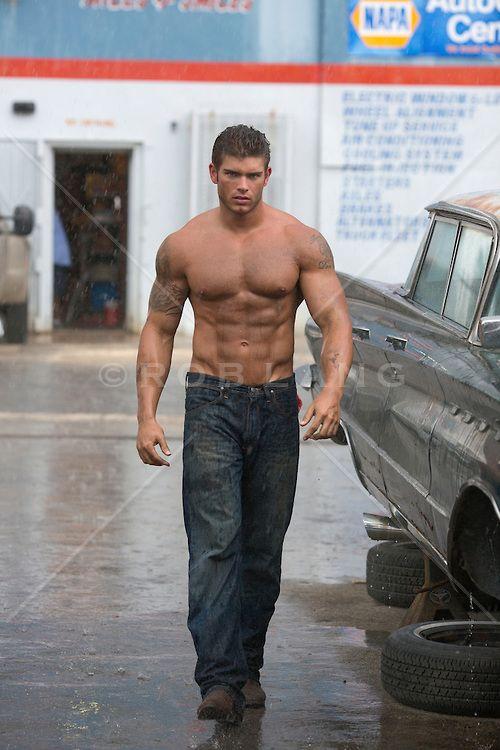 Musculoso pic Hombre modelo desnudo