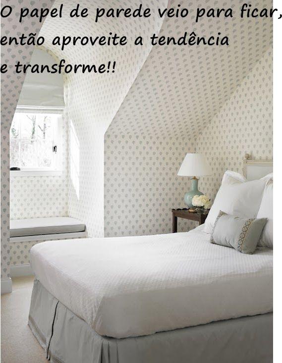 Transformando com papel de parede