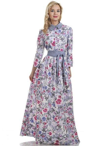 Платье OLIVEGREY. Цвет белый, синий, красный. Категории: Длинные платья, Новые поступления, Платья.