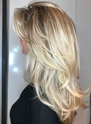50 süße und mühelose, lange, geschichtete Haarschnitte mit Pony - #Haarschnitte #Lange #Schichten #Unendlichkeit - #Neu