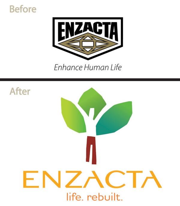 Rebranding the Enzacta Natural Supplement Brand , via Behance