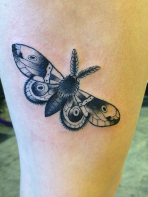 moth tattoo. I oddly would consider this on my foot. Although everyone would think I am insane for wanting this.