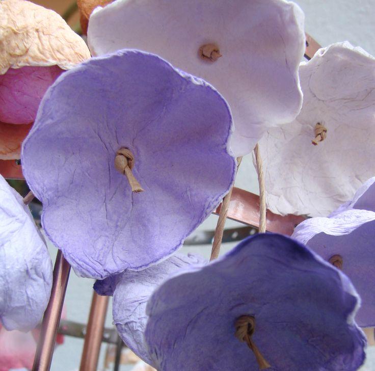 eco jewelry: paper earrings  www.alessandrafabre.com