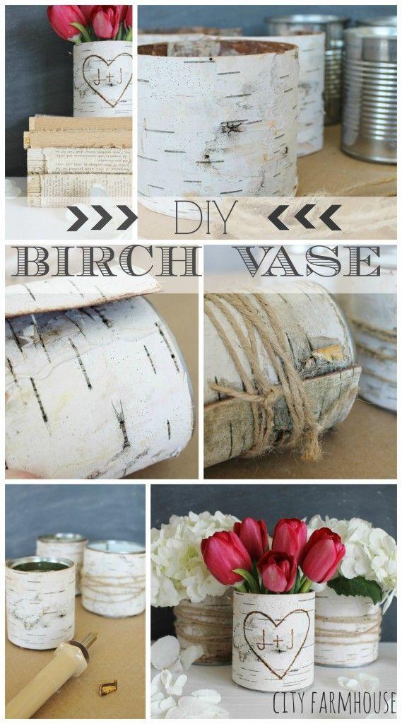 DIY Birch Flower Vase-City Farmhouse