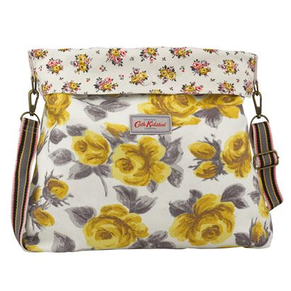 Painted Rose Reversible Roll-Top Messenger