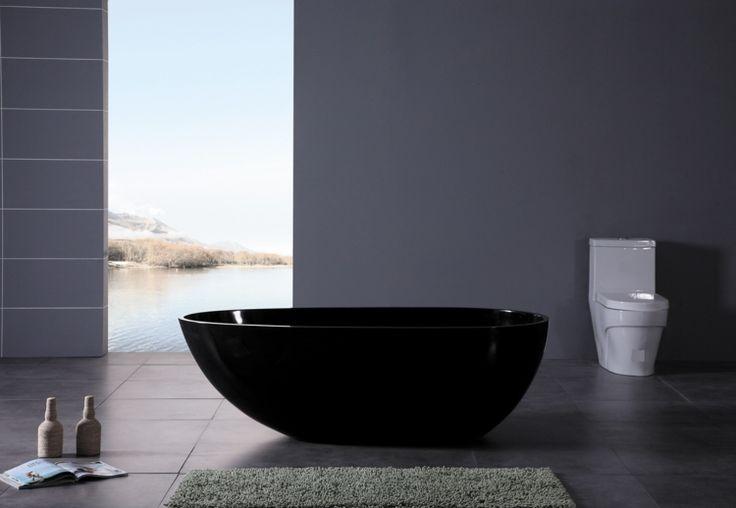 baignoire autportante de design moderne en noir