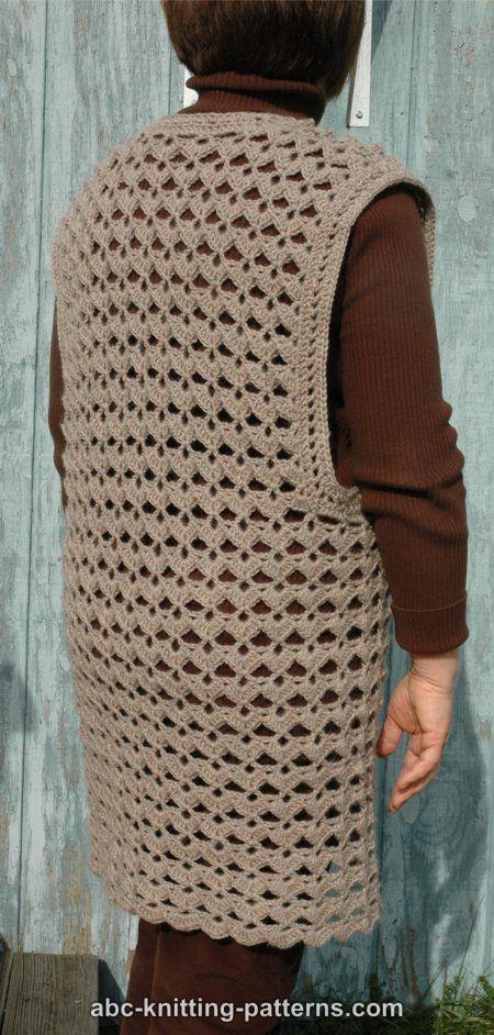 Free Crocheted Vest Pattern Crochet And Knitting