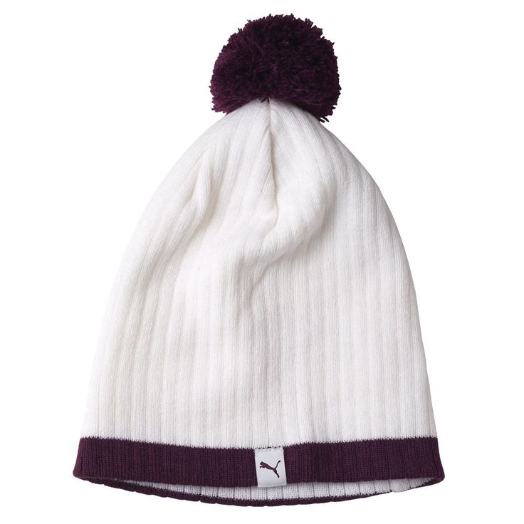Enjoy a great custom fit with this one size fits most womens pom golf beanie hat by Puma!