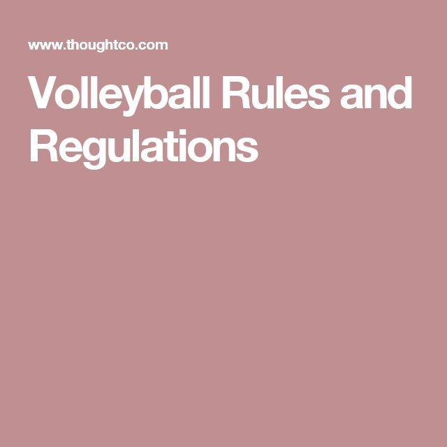 Volleyball Rules and Regulations