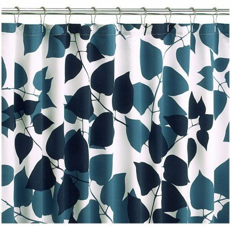 Merimekko Shower Curtain and Hooks - Crate and Barrel
