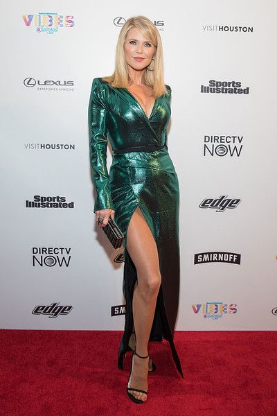 SI Swimsuit model Christie Brinkley attends the VIBES by Sports Illustrated Swimsuit 2017 launch festival on February 18, 2017 in Houston, Texas. - VIBES by Sports Illustrated Swimsuit 2017 Launch Festival - Day 2