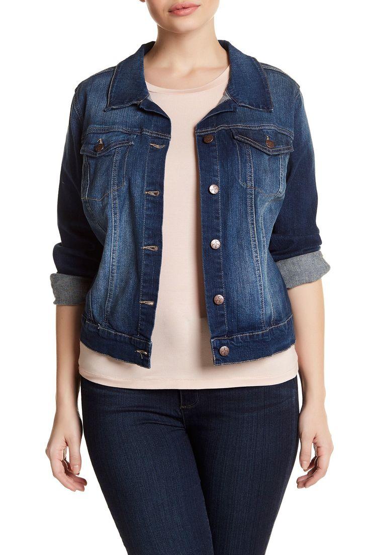 Pixie Long Sleeve Denim Jacket (Plus Size)