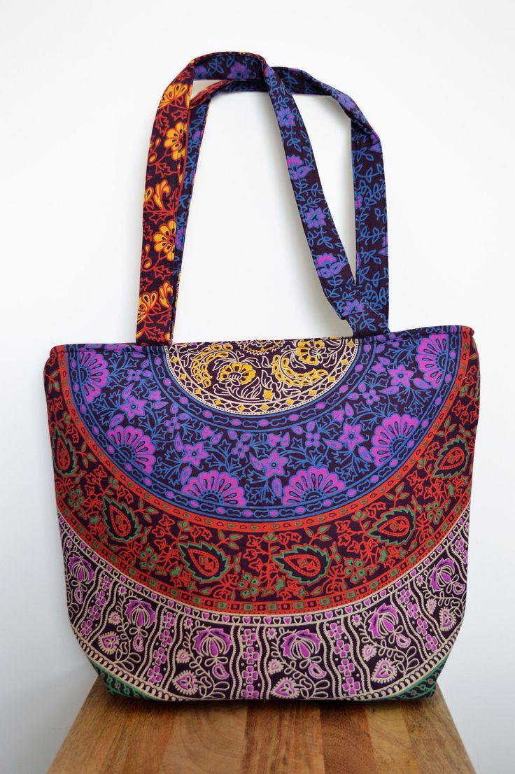 Mandala Tote Bag by BlueElephantLife on Etsy