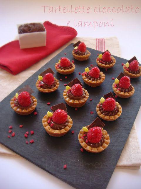 DOLCEmente SALATO: Tartellette cioccolato e lamponi