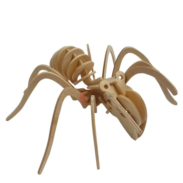 Spider----Woodcraft Construction Kit Kid Wooden Building Puzzle Model Game