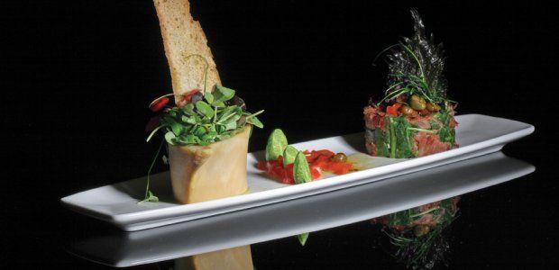 Osso Bucco-salade - Recept! (schenkel vullen met iets sla en een stukje brood voor de merg)