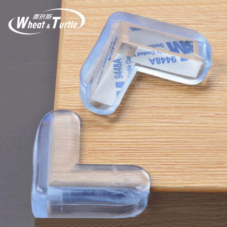 4 Stücke Kind Baby Sicherheit Transparent Silikon Silikon-baby-sicherheits-schutz Schutz Abdeckung Kinder Antikollision Rand Eckenschützer