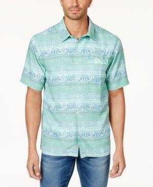 Quiksilver Waterman Men's Tapas Stripe Shirt - Green XXL