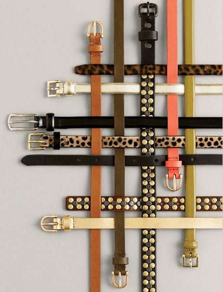 J. Crew belts.