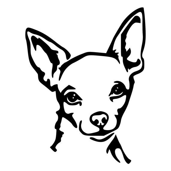 Chihuahua Face Die-Cut Decal Car Window by BeeMountainGraphics