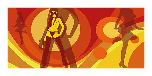#Poster #Kunstdruck Fine #Art #Print Chao Zhang #Sexy #Retro #Lounge Twenty Four #Gallery #illustration #artprint #chaozhang #twentyfourgallery