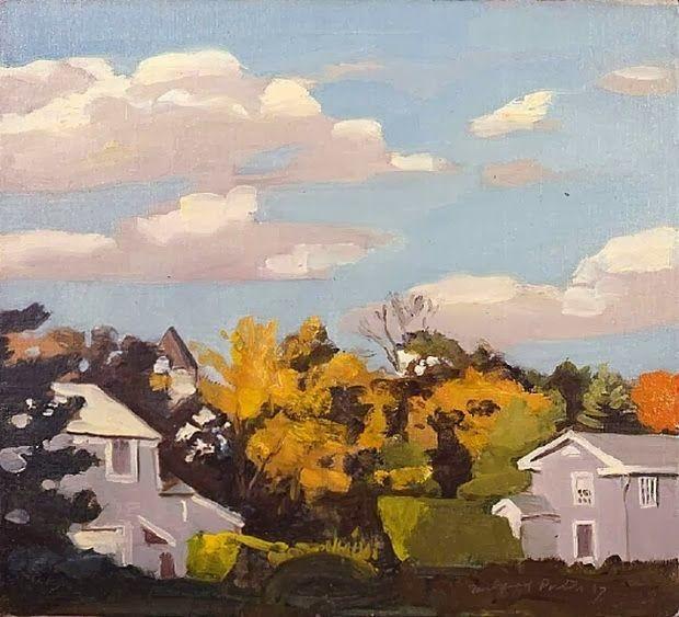 Fairfield Porter (USA 1907-1975) Autumm 2 (1967) oil on canvas - 48.3 x 53.3 cm