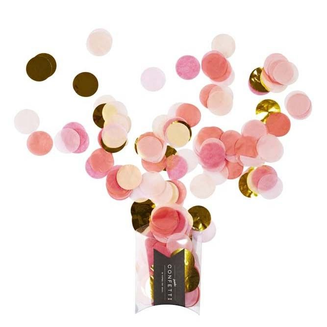 Pink & Gold Jumbo Confetti : The Party Cupboard Online Party Supplies Store
