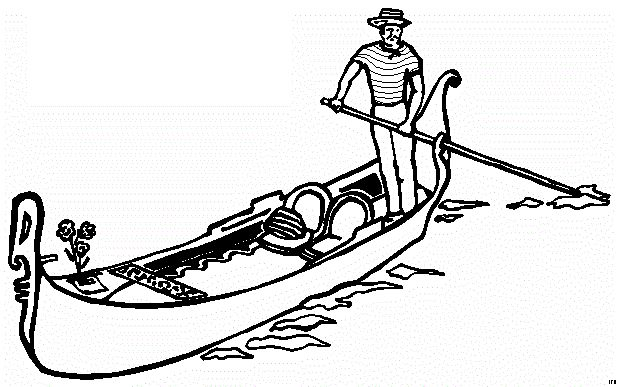 gondola colouring pages