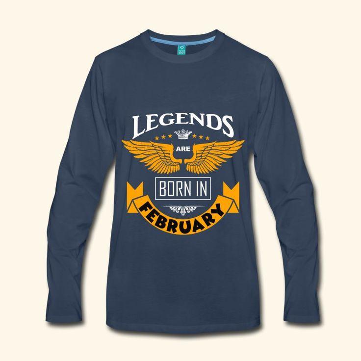 Februar Geburtstag. Legenden sind im Februar geboren - perfekt als Geburtstagsgeschenk für alle Legenden, die im Februar geboren sind. Ein cooles Motiv für alle, die im Februar Geburtstag haben.