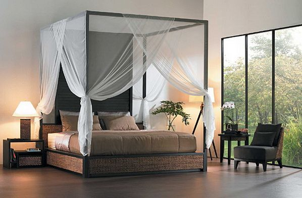 Contemporary Canopy Bed Design