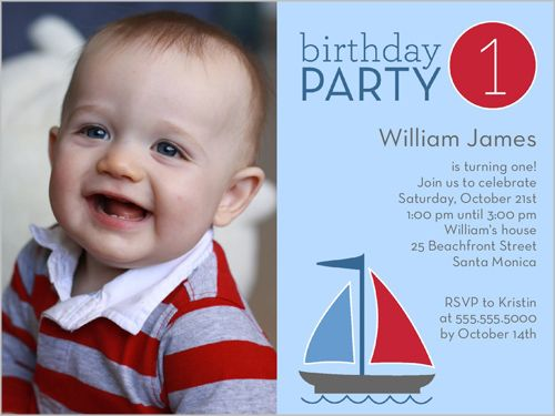 Best Baby Boys St Birthday Invitations Images On Pinterest - Birthday invitation card baby
