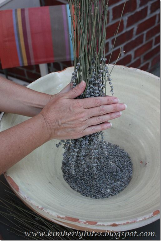 How to dry and harvest lavender ---> great blog, too!
