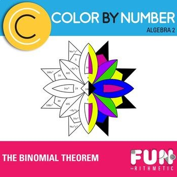 The Binomial Theorem Color by Number Products in 2019