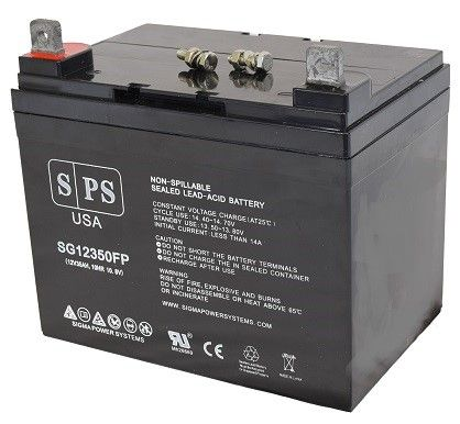 SPS Brand 12V 35AH battery for Lawn Mower Scag Power Equipment SW-18KHE