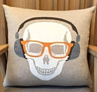 Skull Headphones Pillow - Rani Arabella