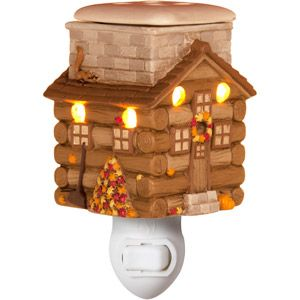 Better Homes and Gardens Plug-In Country Cottage Wax Warmer, Brown