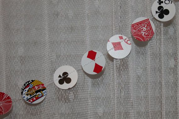 Playing Cards Paper Garland 8.5ft Vegas Decoration