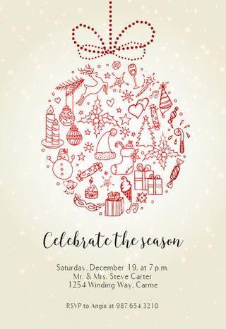 Seasonal Symbols - Christmas Invitation lei Pinterest