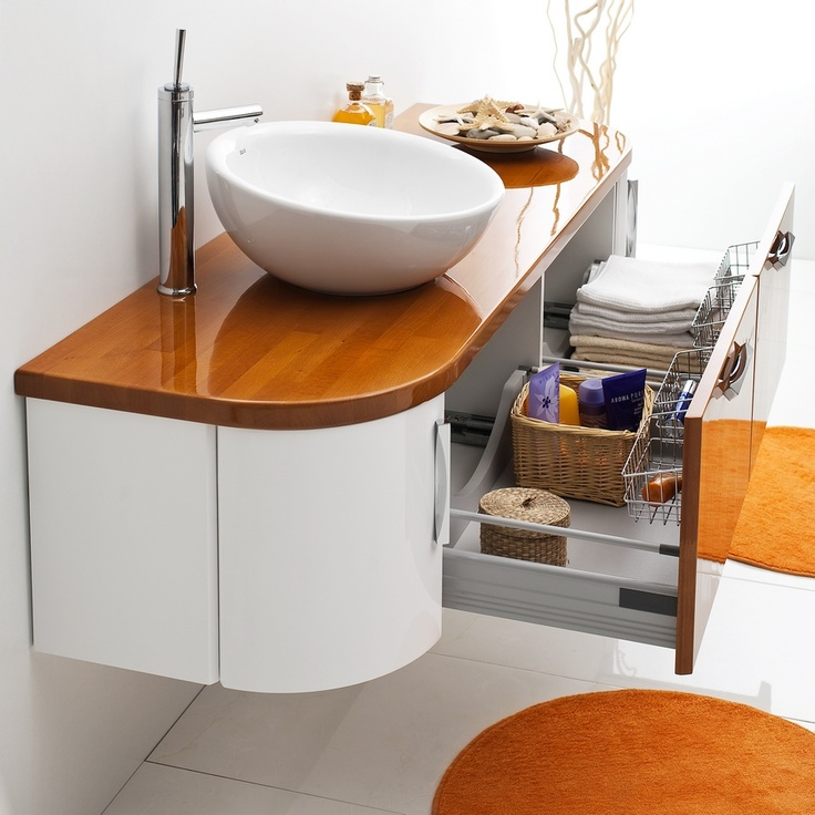 Antado Linea Blanca collection - wooden bathroom furniture / łazienka umywalka…