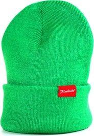 beanie green, patch, F-Logo, varsity Shop now // www.flatkicks.com