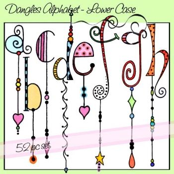 Dangles Alphabet – Lower Case art letters - zentangle  - doodling  #zentangle  #doodling #artlettering