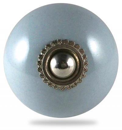 Bouton de meuble et poign�e de meuble pour porte et tiroir, pat�res, gris, boule, uni