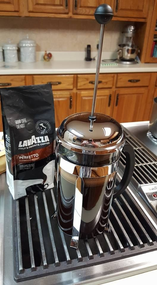 Testing out my new Bodum French Press coffee maker! <3