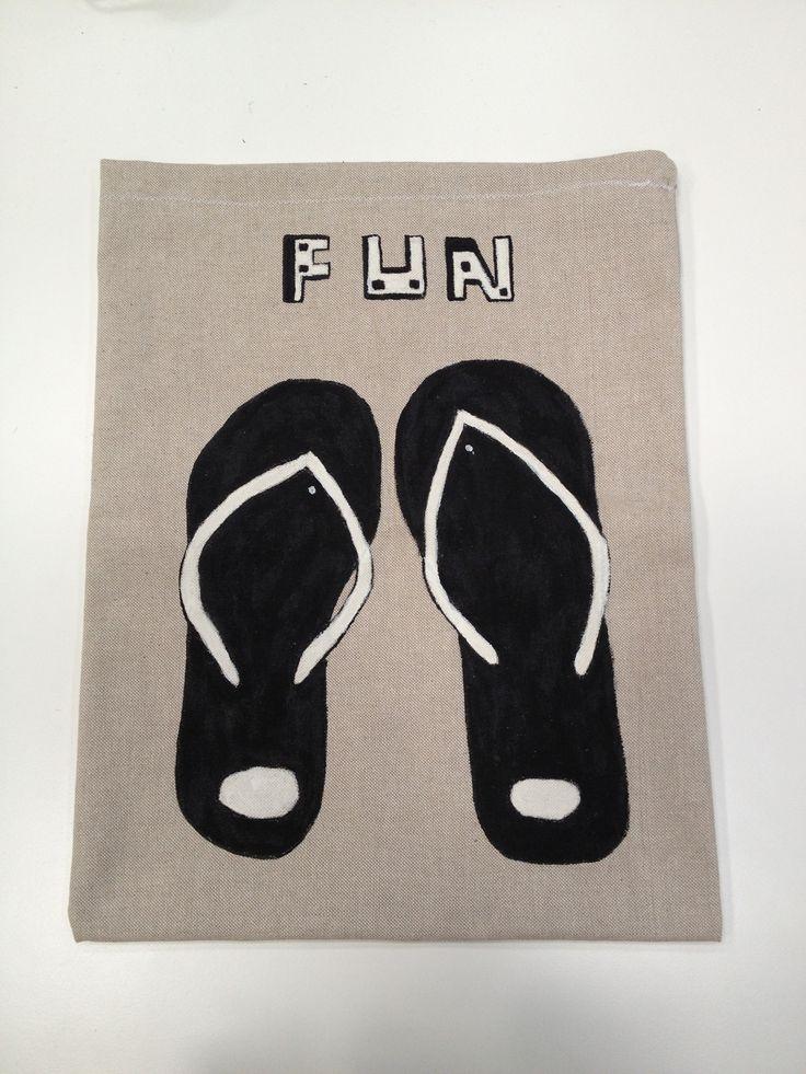 Flip flop shoes bag