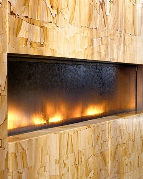 27 Fantastic Indoor Water Features: 27 Fantastic Indoor Water Features With Glass Fireplace And Indoor Water Features Design