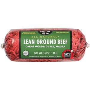 Fresh Meat 93/7 Lean Ground Beef, 1 lb