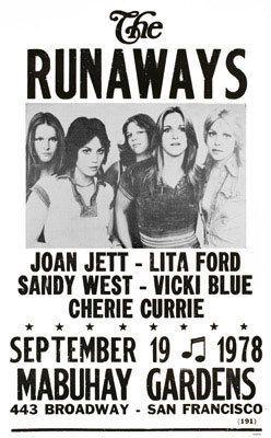 1978 Tour  Poster - the-runaways Photo