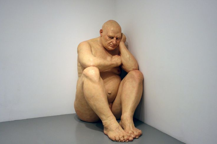Ron Mueck sculpting giant human statues