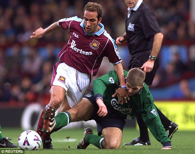 Paolo Di Canio (left), pictured being tackled by Steven Gerrard, helped change dietary con...